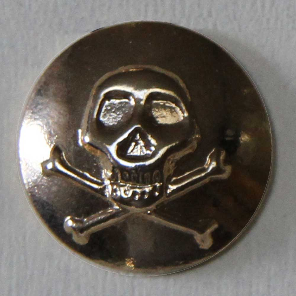 Scull and Cross Bones Button