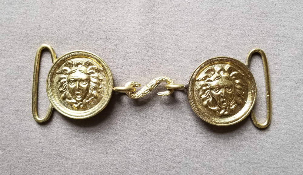 Sword Belt Buckle, Medusa's Head