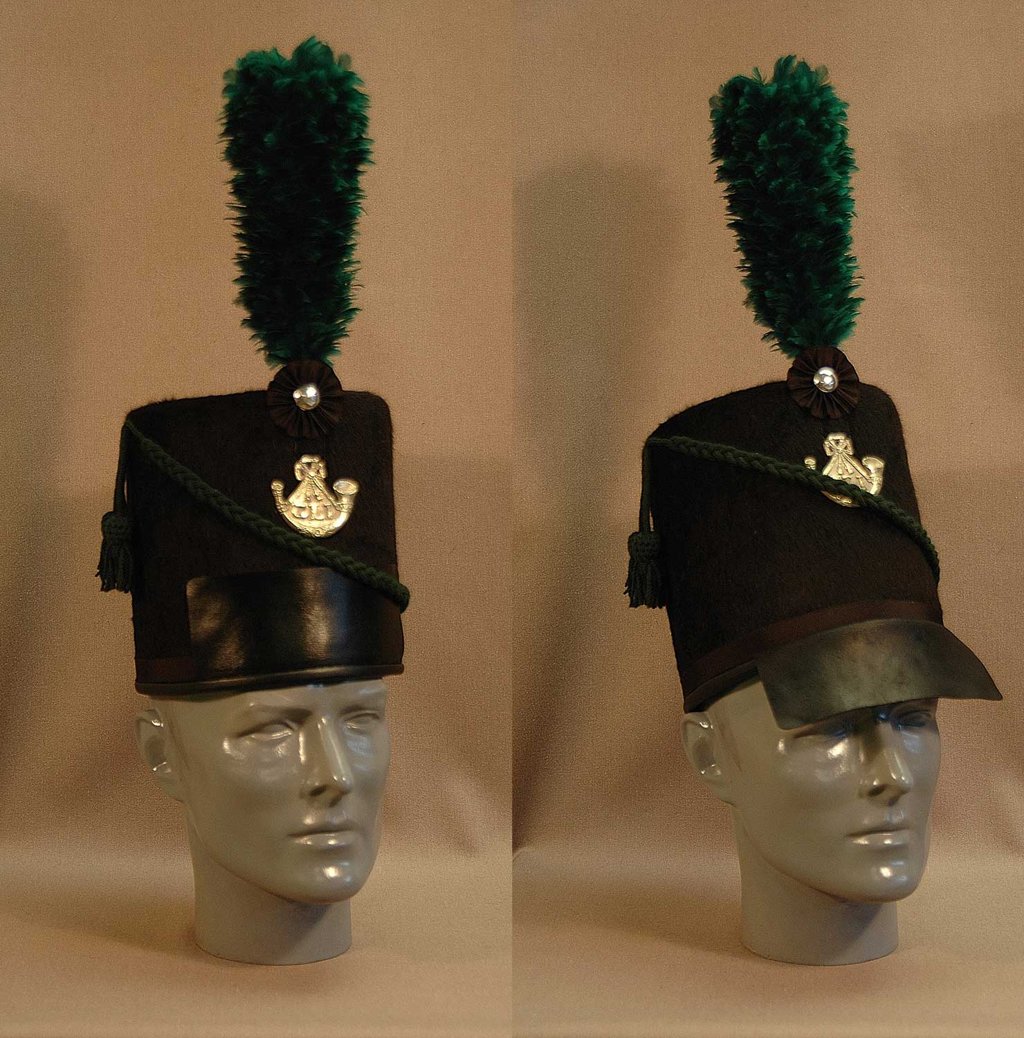 British, Glengarry Officer Shako