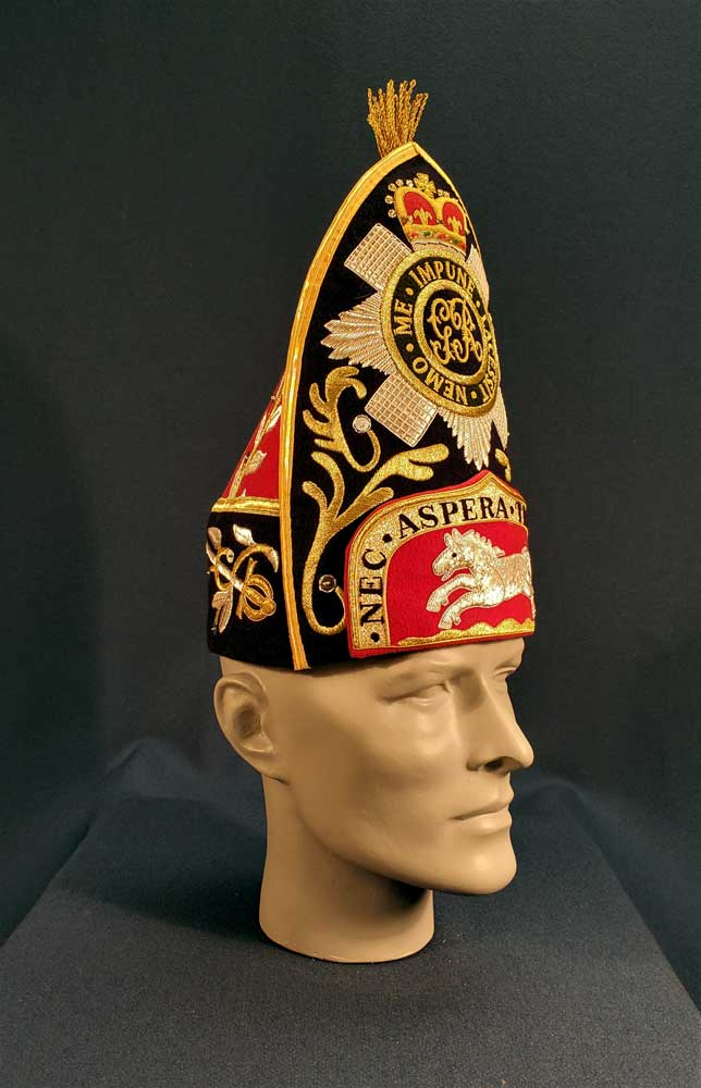 British, 1st Regt (Royal Scots), Grenadier Mitre Cap, Officer