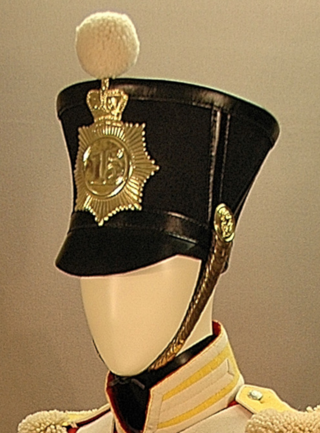 British, 15th Regt, Belltop Shako
