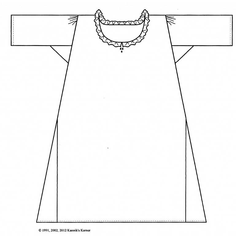 Woman's Shift c. 1750-1800 Pattern