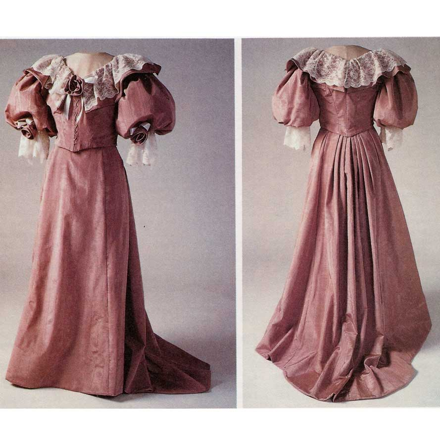 1890s Five Gore Skirt