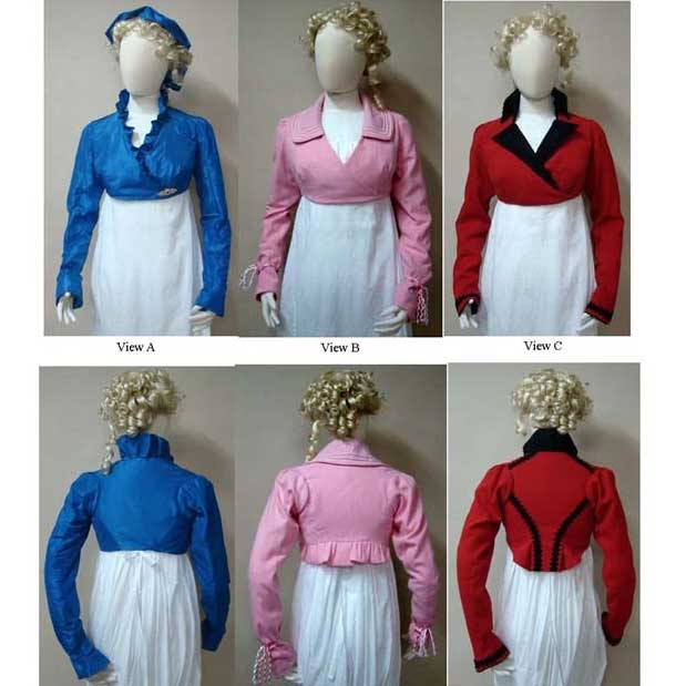 Ladies' Wrap Front Spencer Jacket 1798-1809
