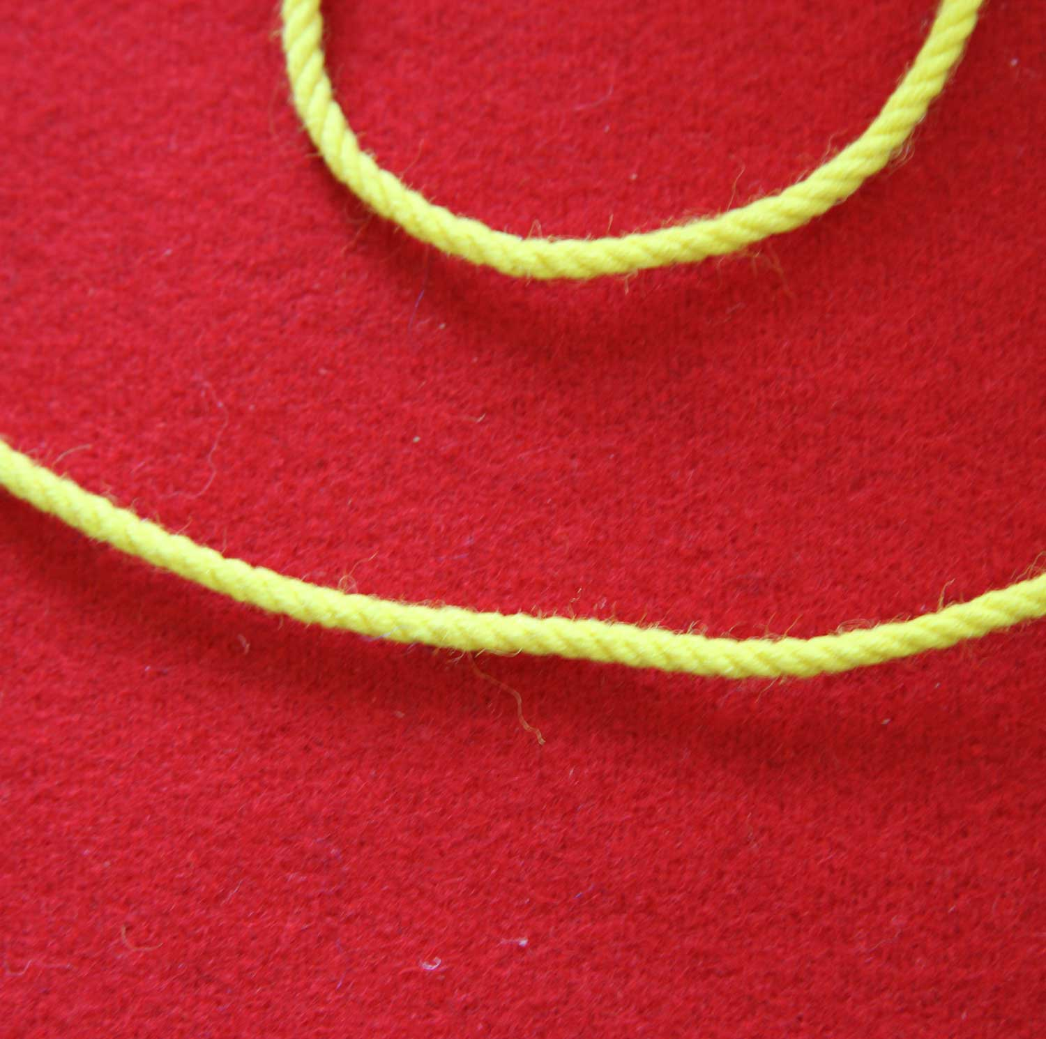 Yellow Wool Cord