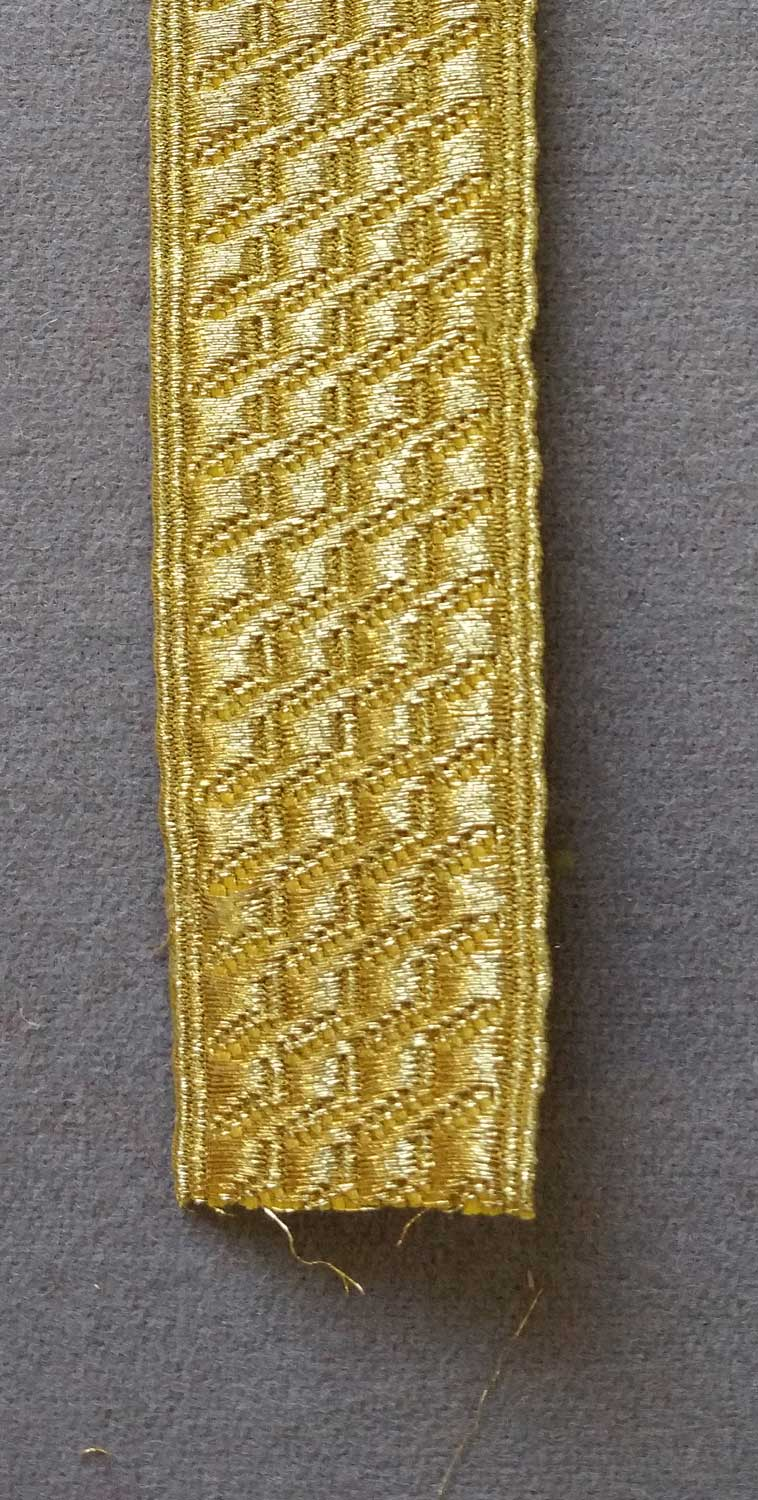 Bias and Stand Mylar Lace, 1""