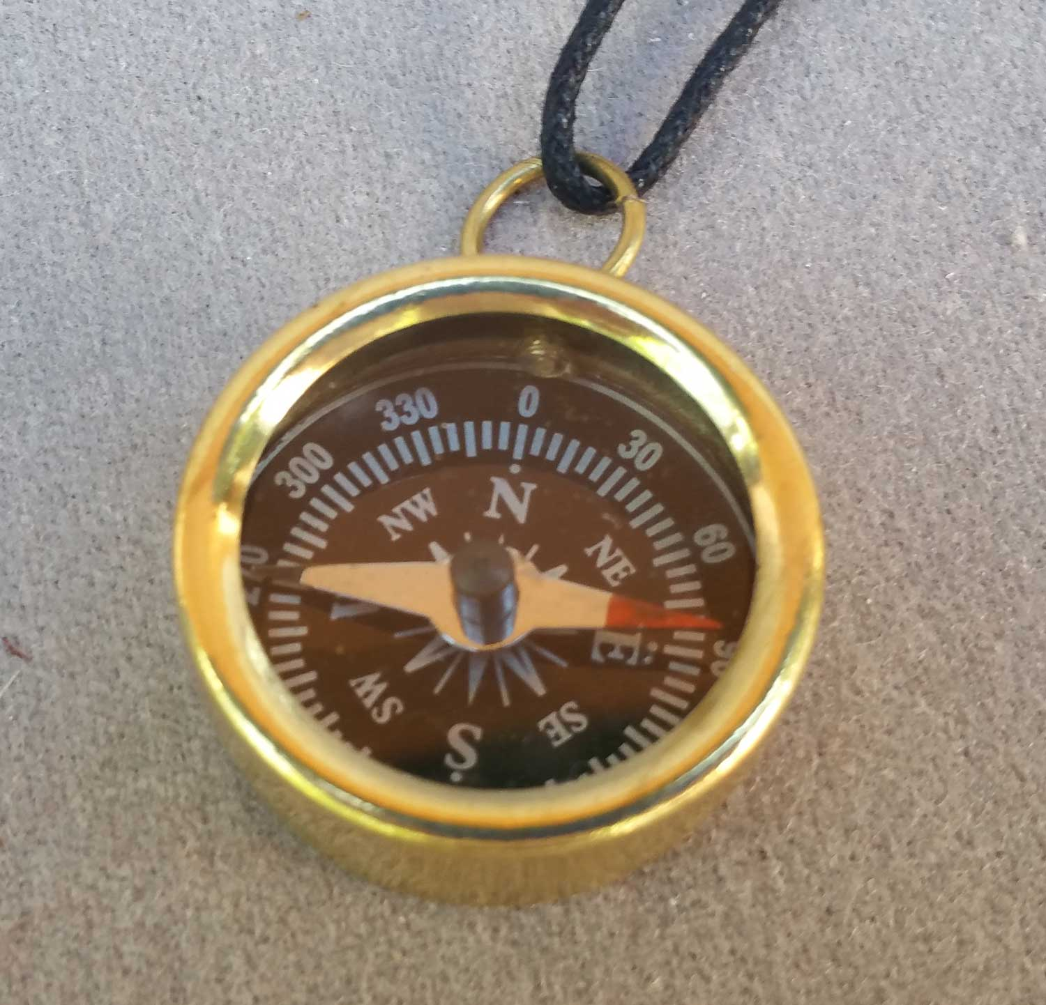 Itty Bitty Compass on a Cord