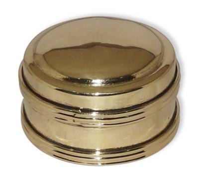 Box, Small Brass Round Plain