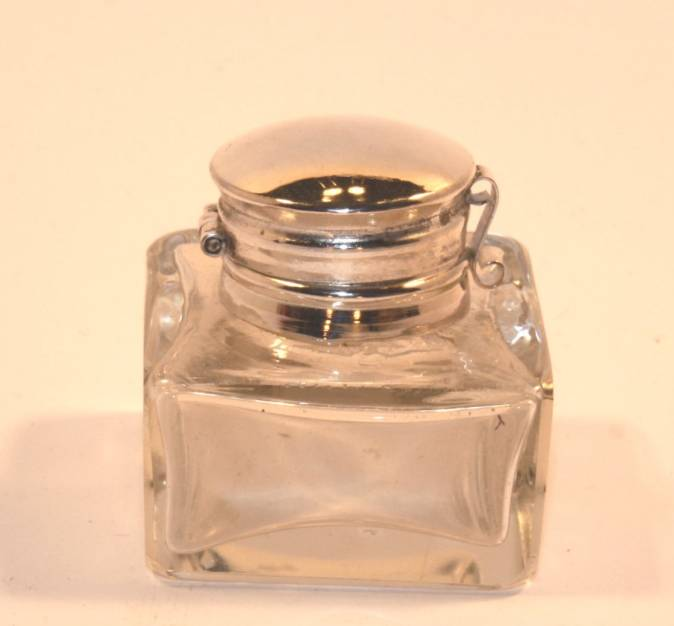 Inkwell, Small Glass, clear